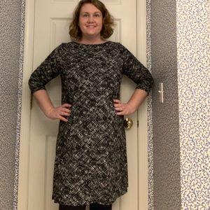 J JILL dress with black white print size large